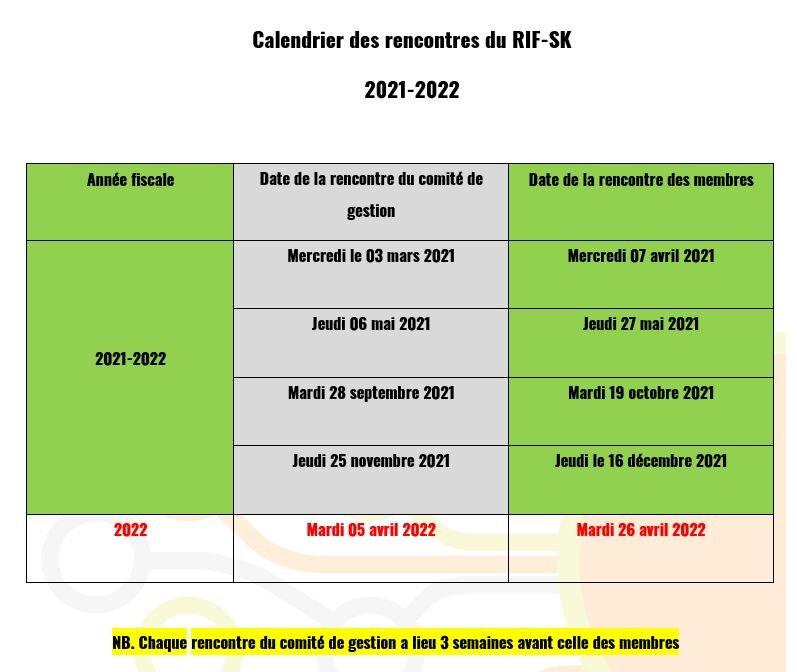 Rencontres IF 2021-2022